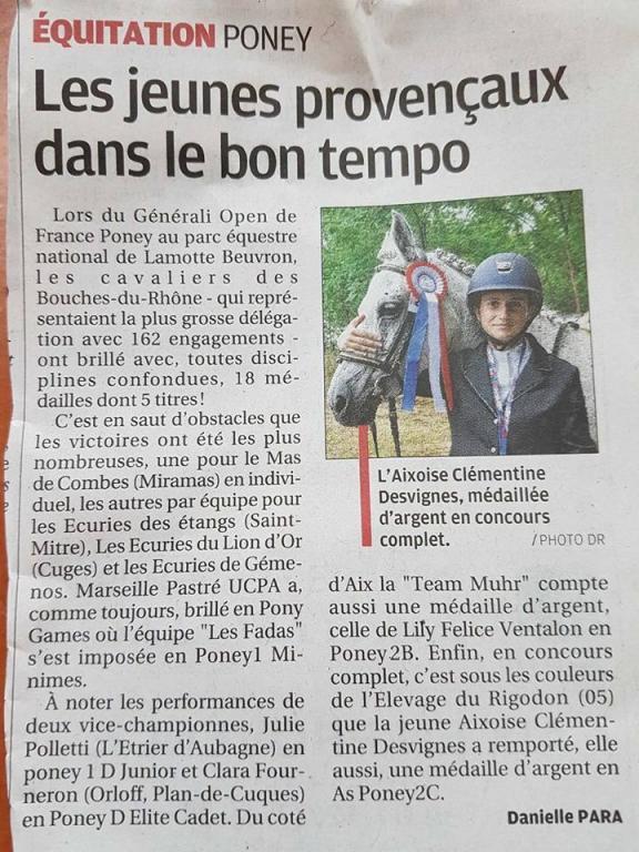 Elevage du Rigodon  Championnats de France 2017
