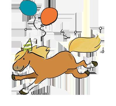 Dessin anniversaire poney gap 03